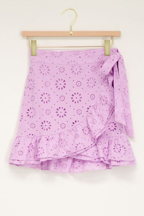 Lila wikkelrok embroidery