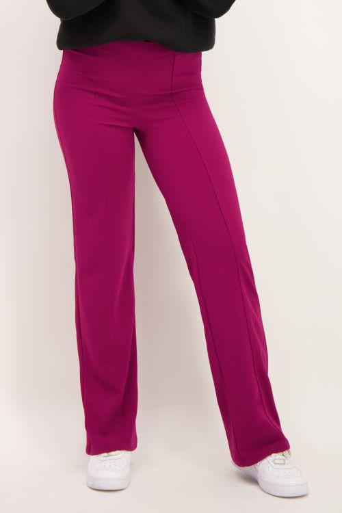Paarse straight fit broek