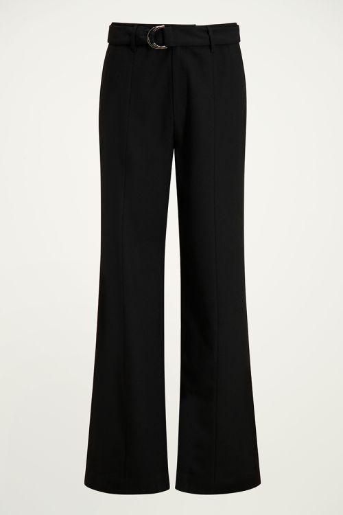 Zwarte pantalon met riem | Wijde pantalon My Jewellery