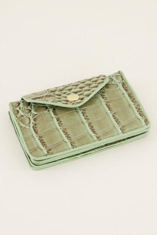 Groene pasjeshouder slangenprint   My Jewellery