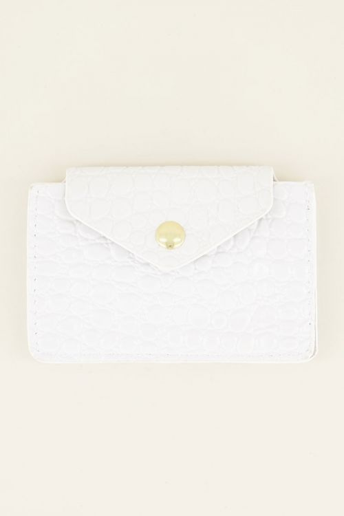 Witte pasjeshouder slangenprint | My Jewellery