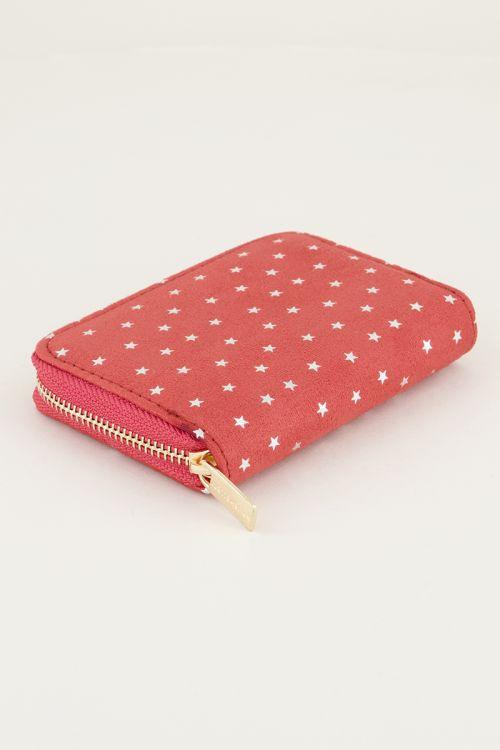 Rode portemonnee klein sterretjes, portemonnee klein dames My Jewellery