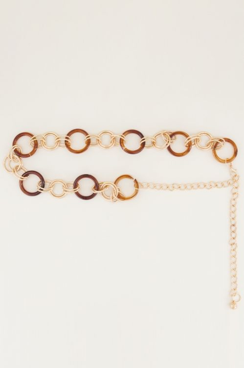 Brown chain belt with rings, waist belt My jewellery