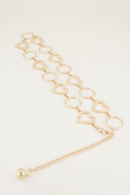 Kettingriem hartjes & rondjes   Ketting riem My Jewellery