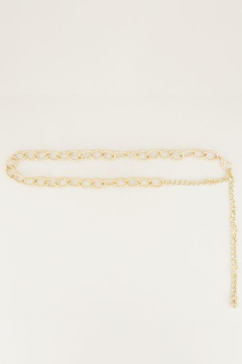 Kettingriem schakels glitter | ketting riem my jewellery