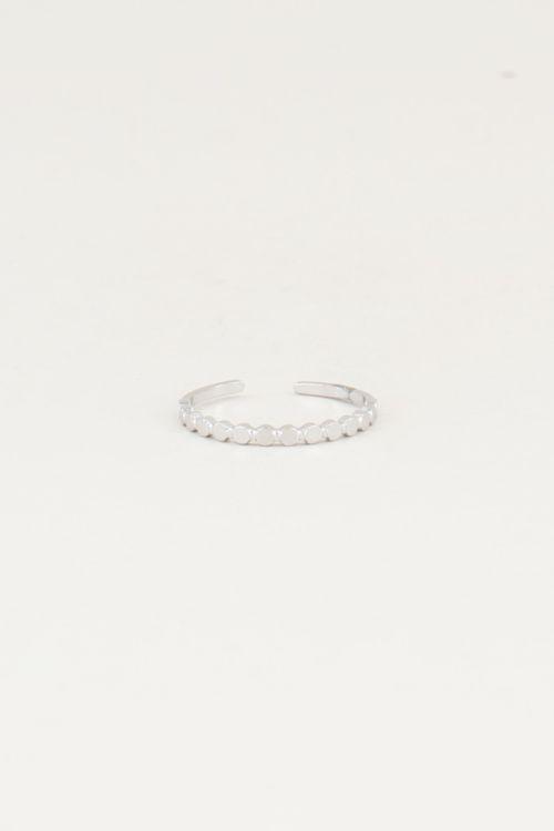 Ring kleine rondjes, minimalistische ringen