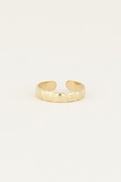 Brede ring met bolletjes | Bolletjes ring My Jewellery