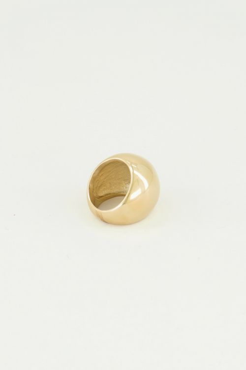 Gouden statement ring