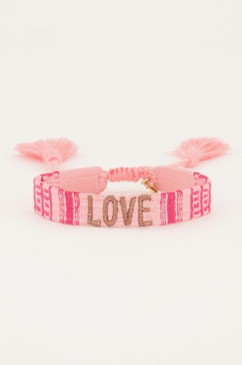 Roze armbandje love   My Jewellery