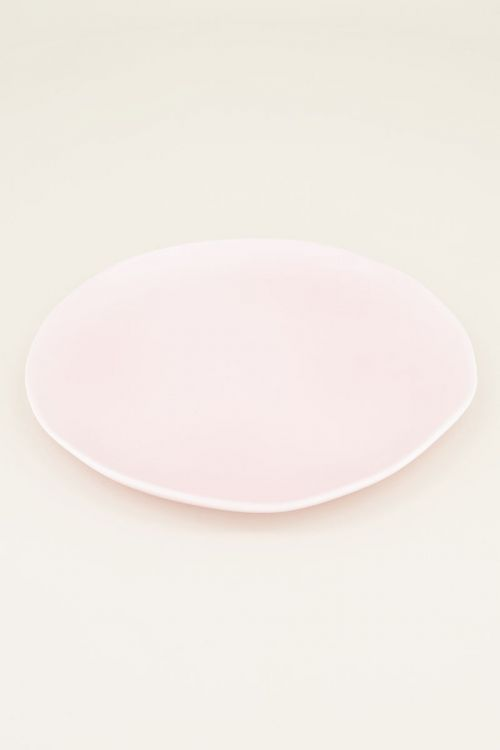 Roze bord rond golvend | Home accessoires My jewellery