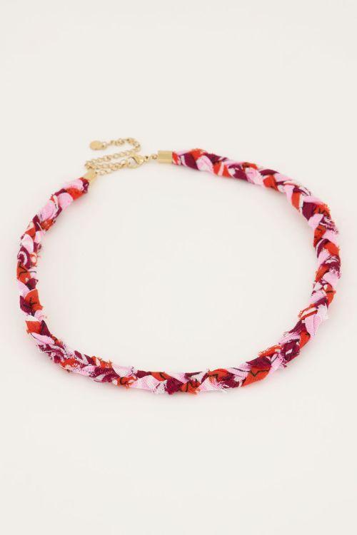 Roze ketting sunrocks gevlochten | My Jewellery