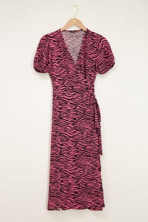 Roze maxi jurk met zebraprint   My Jewellery