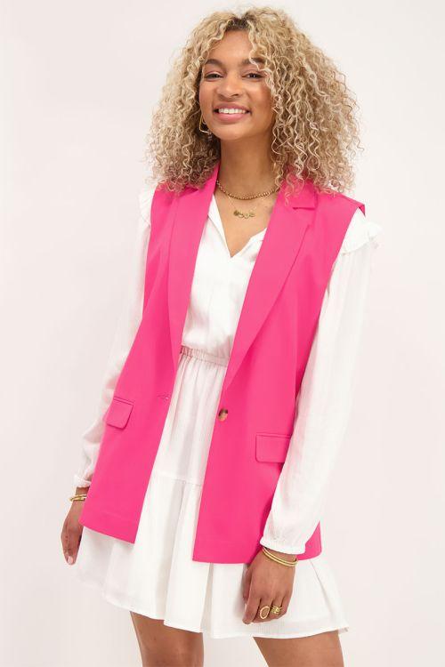 Roze mouwloze blazer | My Jewellery