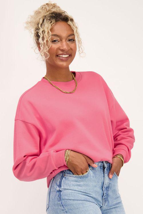 Roze oversized sweater   Truien   My Jewellery