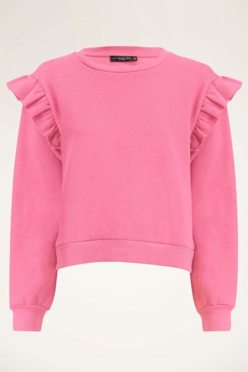 Roze sweater met ruffles | My Jewellery