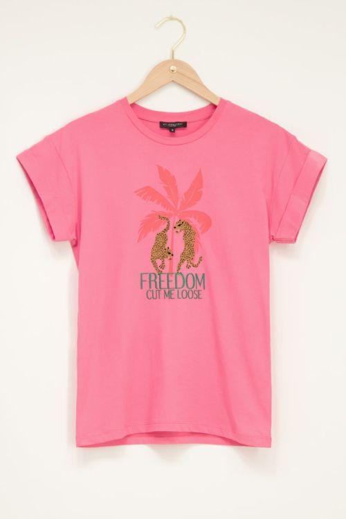 Roze t-shirt freedom cut me loose