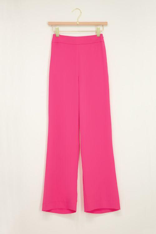 Roze wijdvallende pantalon
