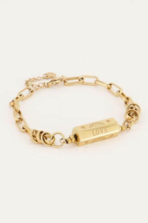 Schakelarmband met love bedel | My Jewellery