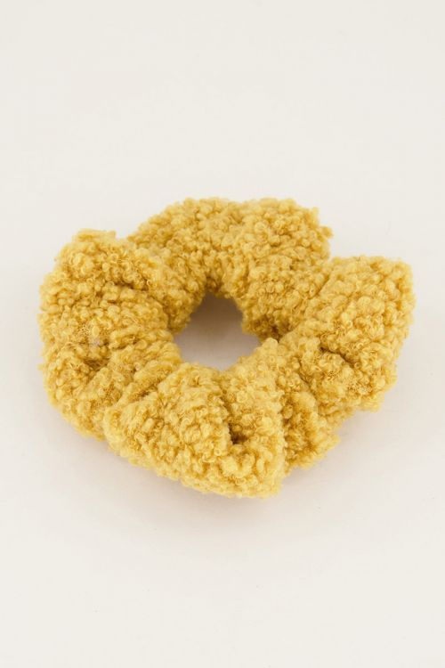 Gele scrunchie teddy | Online shoppen My Jewellery