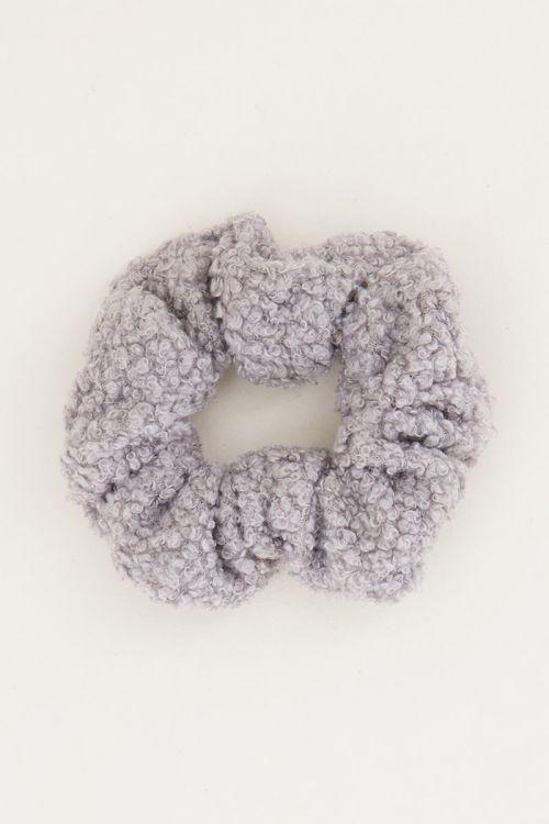 Grijze scrunchie teddy | Scrunchies My Jewellery