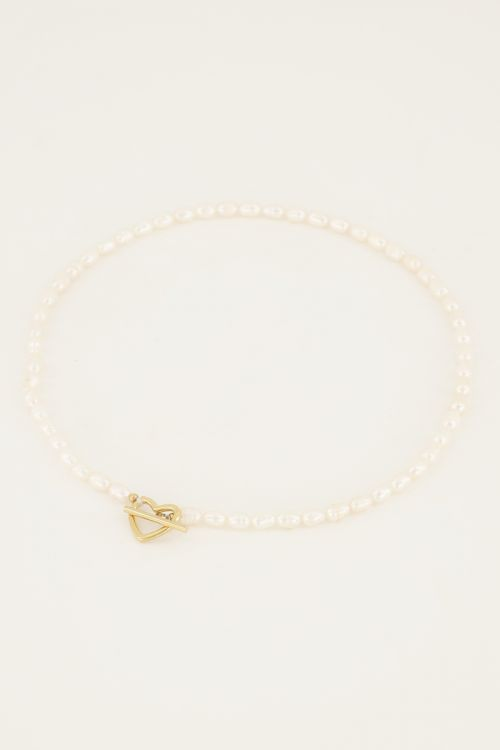 Shapes pearl necklace with heart