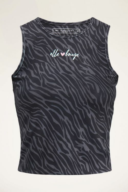Lichtgrijze sport top zebra  | My Jewellery