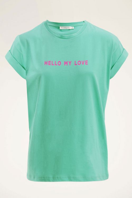 Groen t-shirt have a nice day   My Jewellery