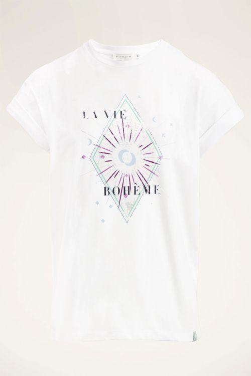 Wit shirt bohemian | T-shirt | My Jewellery