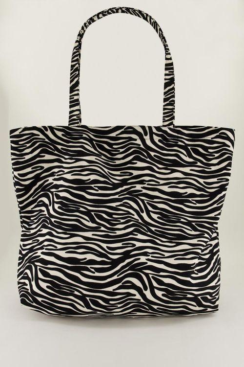 Zwart-witte shopper zebraprint