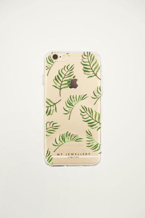 Telefoonhoesje blaadjes groen, iphone hoesje