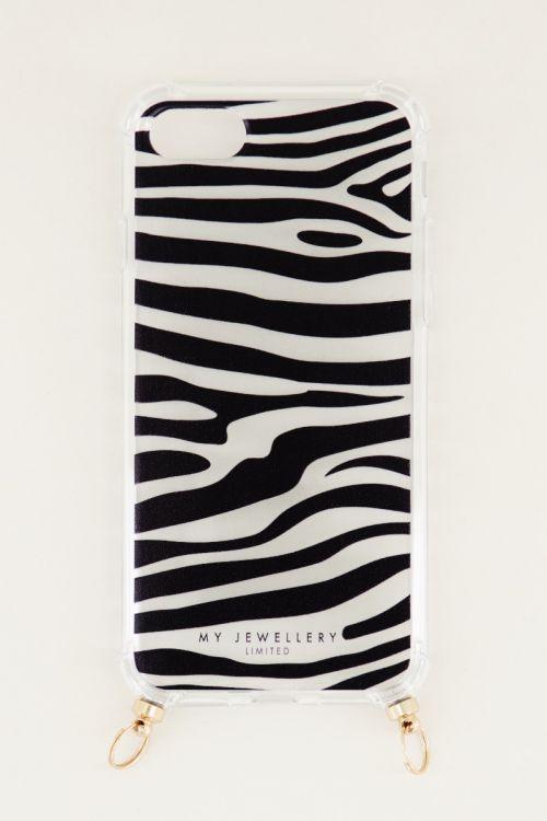 Zebra phone case, phone case with cord