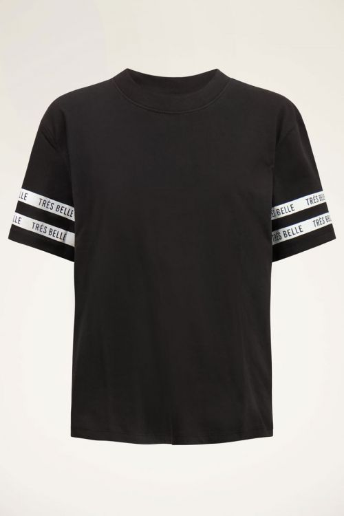 Black sportswear T-shirt