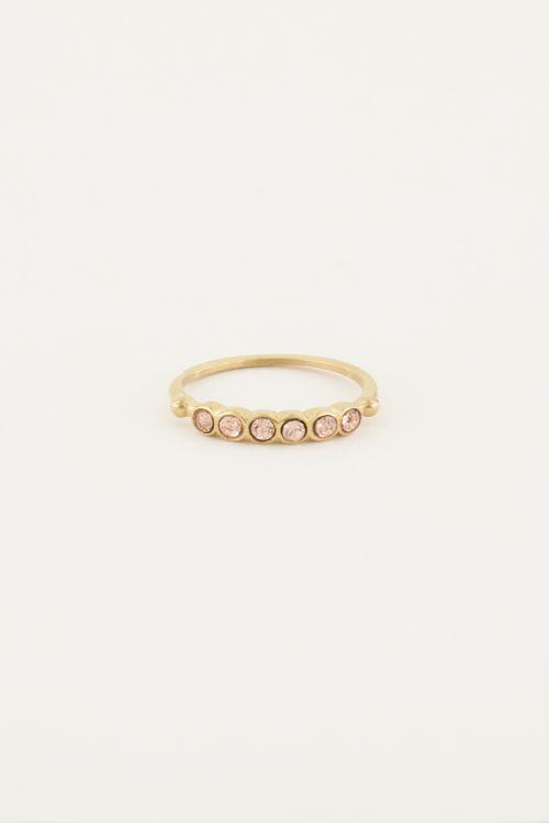 Vintage ring peach kristal
