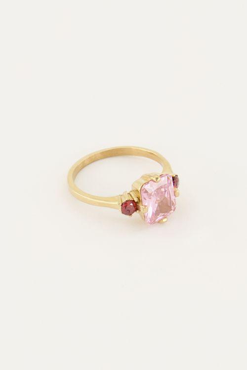 Vintage statement ring kristal