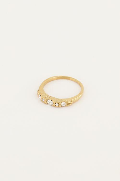 Vintage klassieke ring kristal