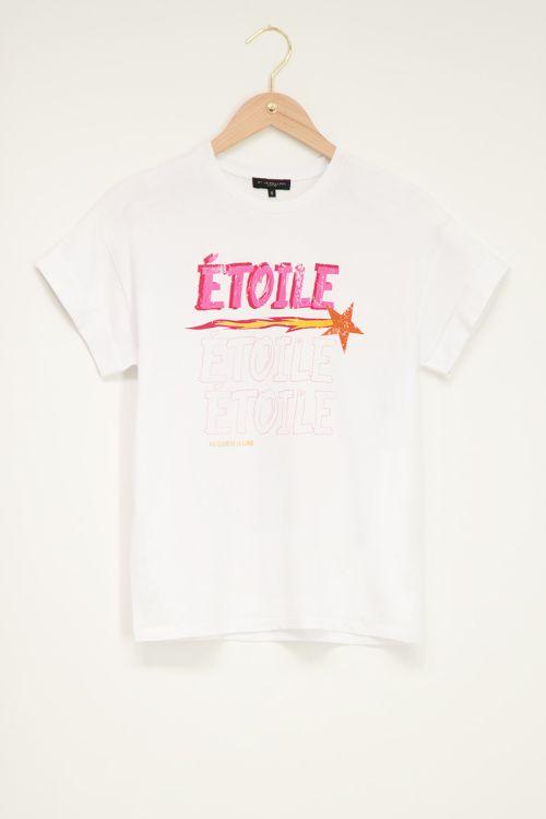 Wit T-shirt étoile met ster
