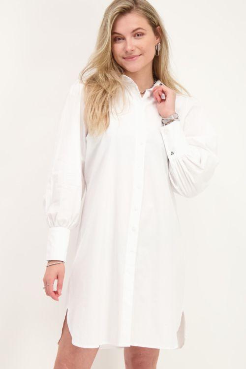 Witte blouse jurk