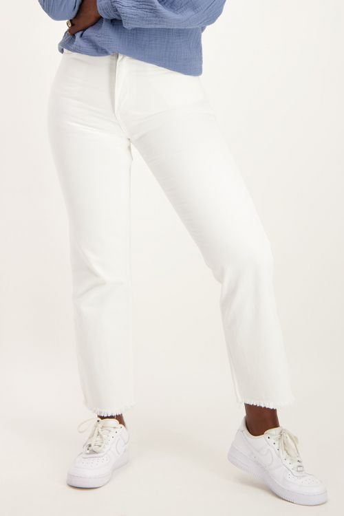 Witte straight fit jeans   Jeans   My Jewellery