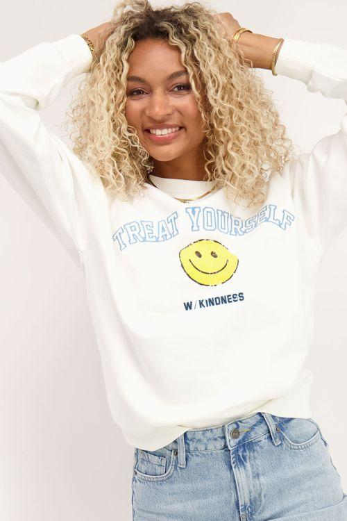Witte sweater smiley print | Sweaters | My Jewellery