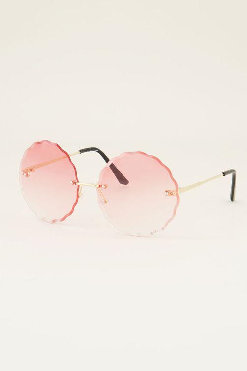 Ronde zonnebril   Zonnebril roze glazen   My Jewellery