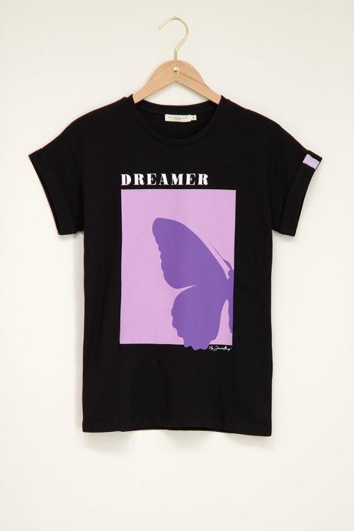 Zwart shirt dreamer