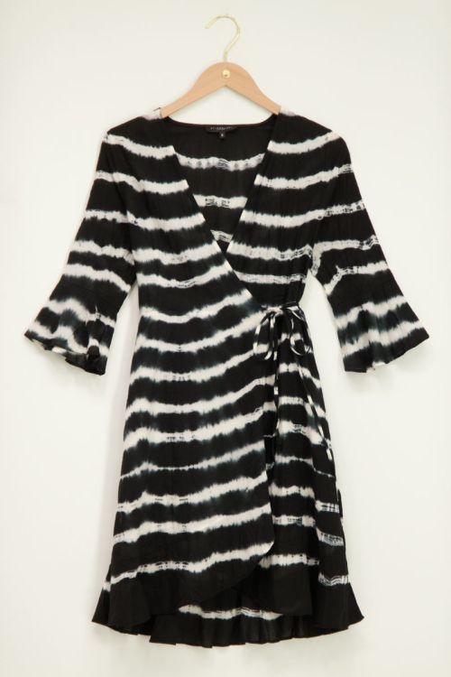 Zwart wit tie dye dress