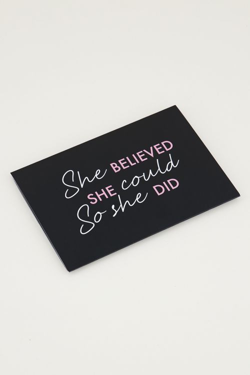 Giftcardholder She believed she could so she did, cadeaukaart