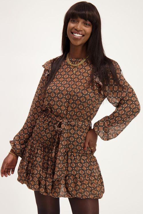 Zwarte jurk met patroon | Jurkjes | My Jewellery