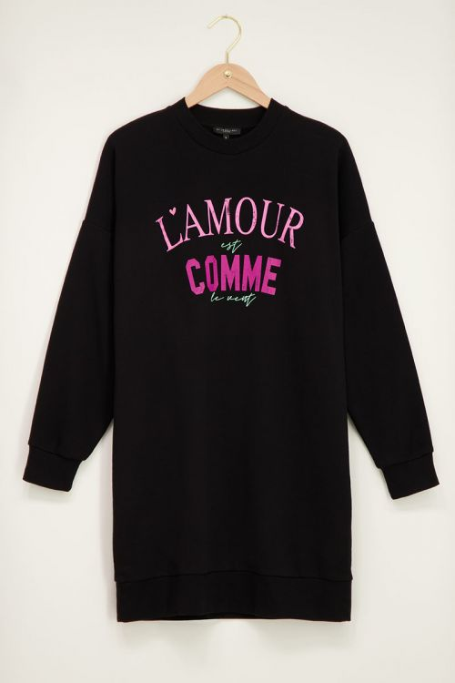 Zwarte sweater dress L'amour