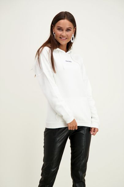 Witte Hoodie Ciao Bella