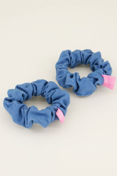 Denim scrunchie set | Haaraccessoires My jewellery