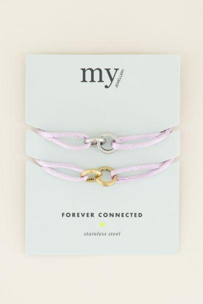 Roze forever connected armband | Vriendschap sieraden | My Jewellery