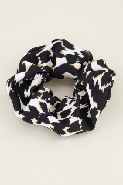 Beige panterprint scrunchie | My Jewellery