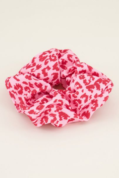 Rode panterprint scrunchie | My Jewellery